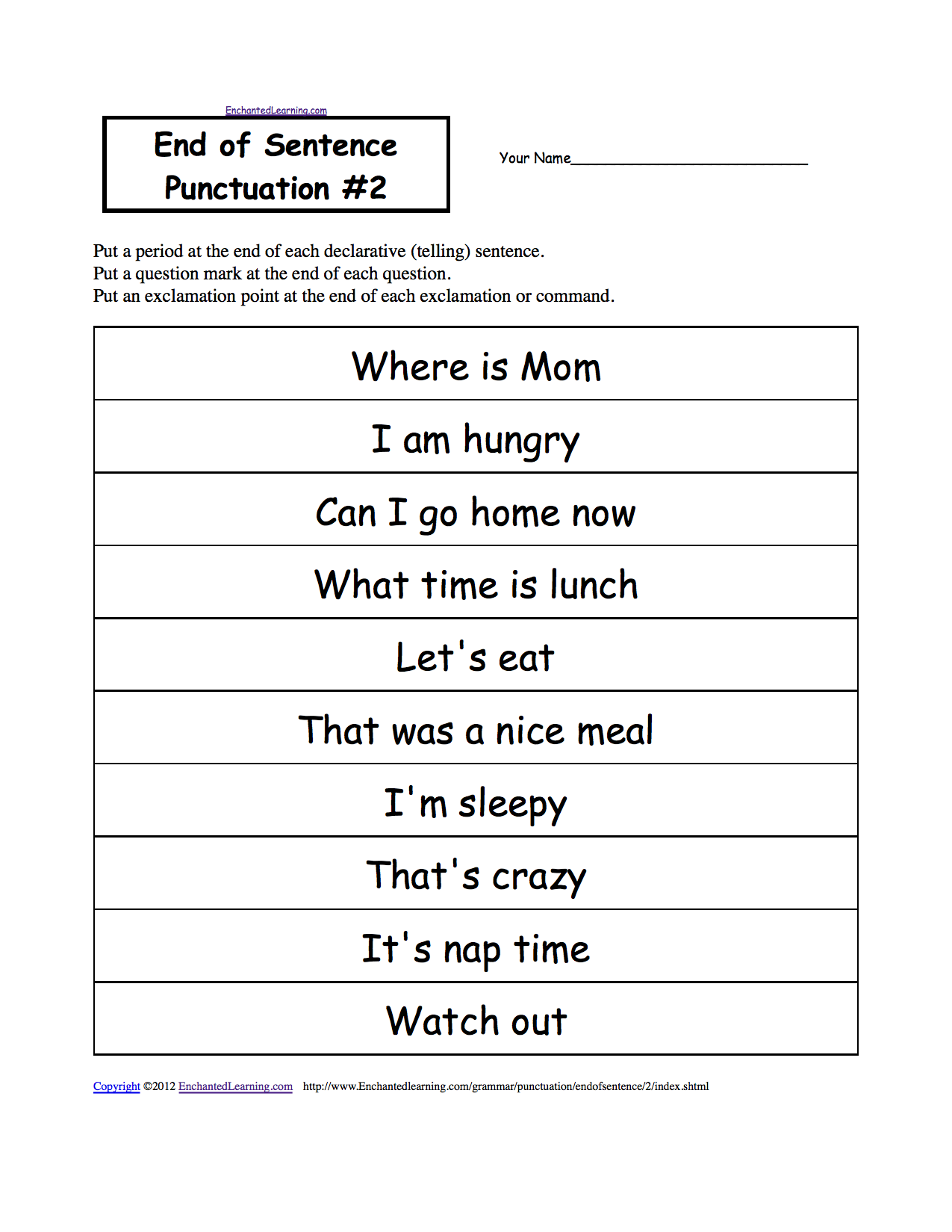 English worksheets grade 1 2 3